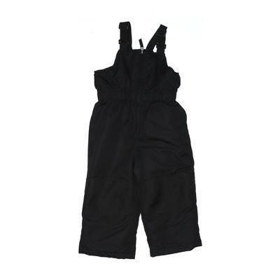 Healthtex Jumpsuit: Black Solid Skirts & Jumpsuits - Size 2Toddler