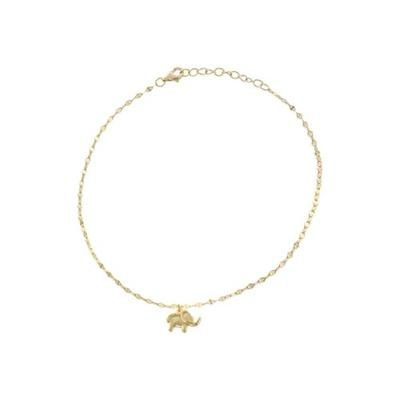 Belk Silverworks Gold Yellow Gold Over Sterling Silver Single Elephant Charm Anklet