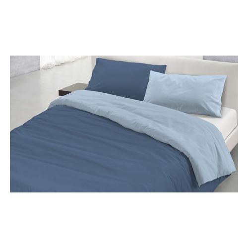 Bettbezug-Set: Petroliumgrün Grau / 200 x 200 cm