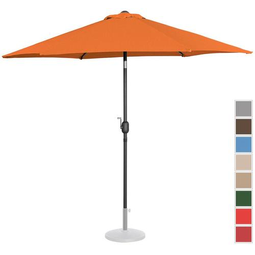 Sonnenschirm Groß Sonnenschirm Terrasse Orange Sechseckig 270 Cm Neigbar
