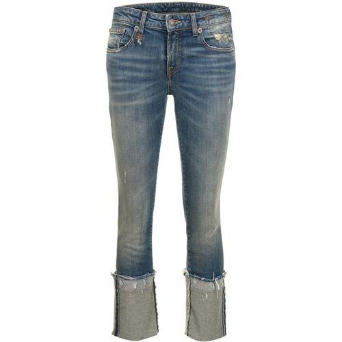 R13 Jeans mit Umschlag