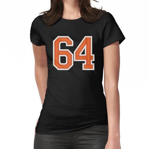 Sport Nummer 64 Trikot Vierundsechzig Orange Frauen T-Shirt