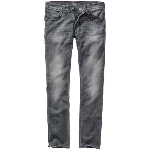 Baldessarini Herren Jeans-Hose Slim Fit Grau einfarbig