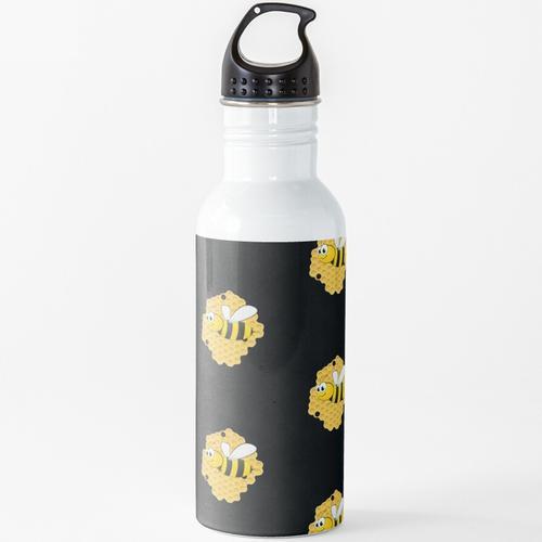 Süße Honigbiene Wasserflasche