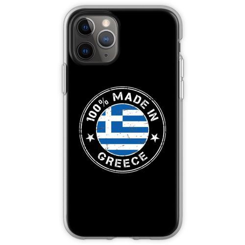 Griechenland griechisch Flagge Fahne Flexible Hülle für iPhone 11 Pro