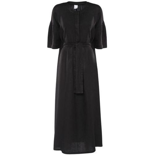 Max Mara Langes Kleid Aus Leinen