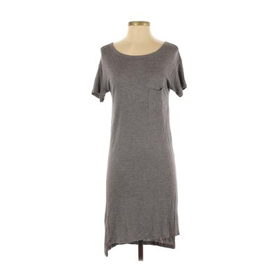 T by Alexander Wang Casual Dress - Shift: Gray Solid Dresses - Used - Size X-Small
