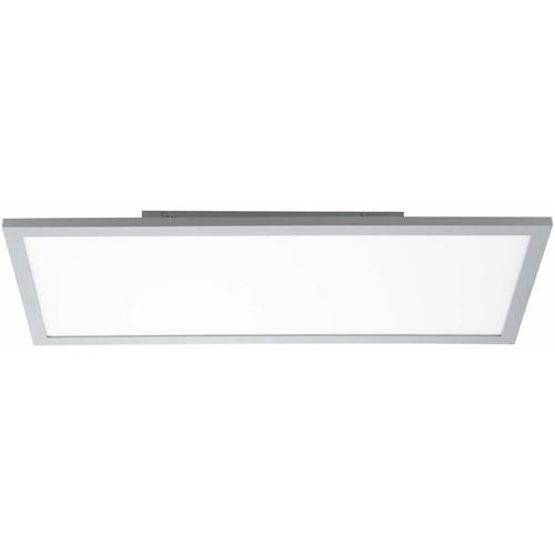 LED Deckenleuchte dimmbar Aufbau LED Deckenpanel LED Deckenlampe flach, Aufbau, silber, 35 Watt