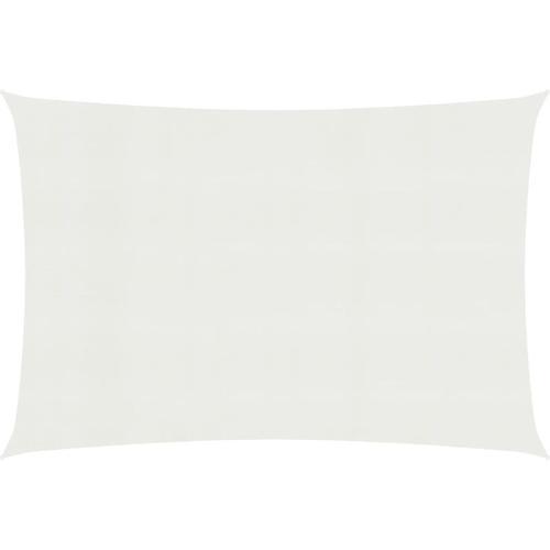 Sonnensegel 160 g/m² Weiß 3x5 m HDPE