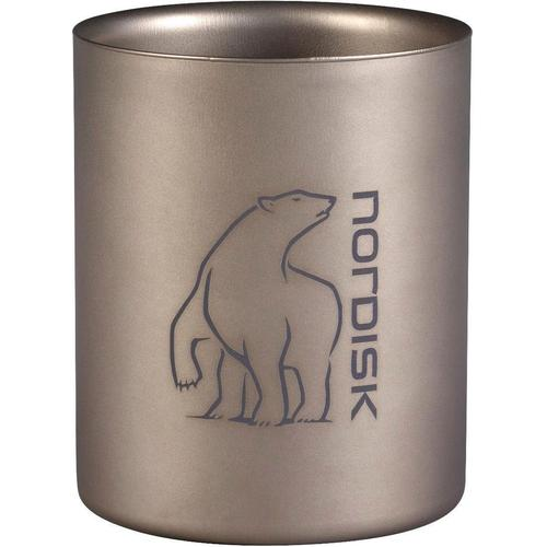 Nordisk Becher Titanium Mug Double-Wall silberfarben Campinggeschirr Camping Schlafen Outdoor