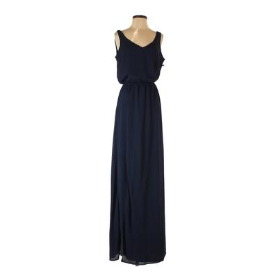 Show Me Your Mumu Casual Dress - Maxi: Blue Solid Dresses - Used - Size X-Small