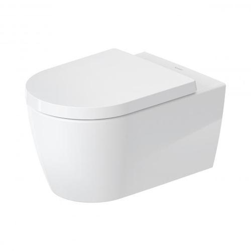 Duravit ME by Starck Wand-Tiefspül-WC mit WC-Sitz, HygieneFlush, rimless L: 57 B: 37 cm weiß, mit HygieneGlaze 45790920A1