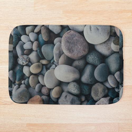 Sandstein und Strandsteine Kieselsteine Badematte