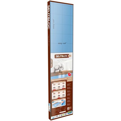 Selit Trittschalldämmplatte SELITBLOC, für Vinyl- und Designböden, faltbar blau Zubehör Bodenbeläge Bauen Renovieren