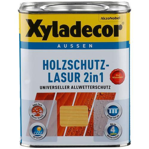 Xyladecor Holzschutzlasur 2in1, 0,75 Liter, grün Holzfarben Lasuren Farben Lacke Bauen Renovieren