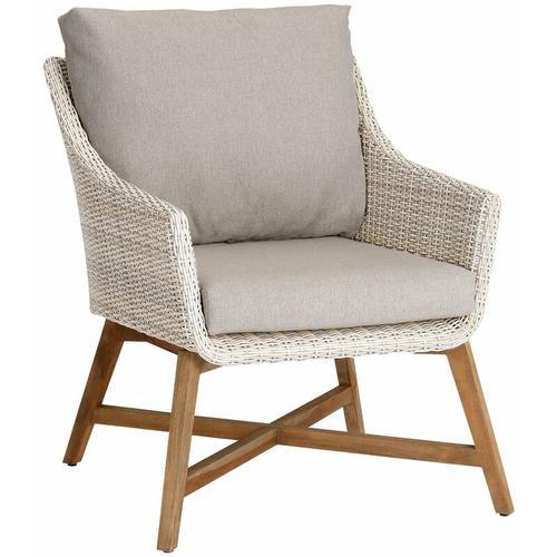 Lounge-Sessel 'Paterna' aus Teakholz, mit Auflage - Best