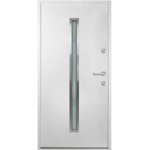 Haustür Aluminium Weiß 90x200 cm