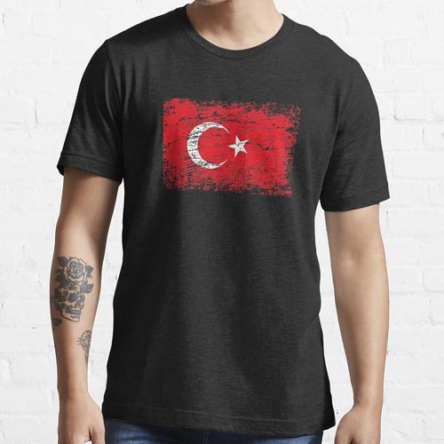 Türkei türkisch Flagge Fahne Essential T-Shirt