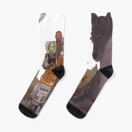 Gespenster Wandbild Socken