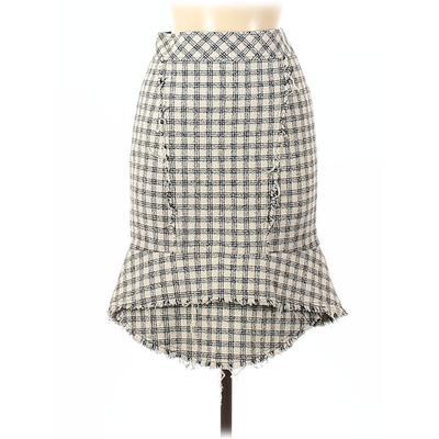 Alexander Wang Casual Skirt: Ivory Plaid Bottoms - Size 0