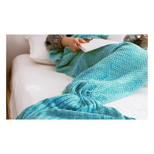 Meerjungfrau-Decke: Grau