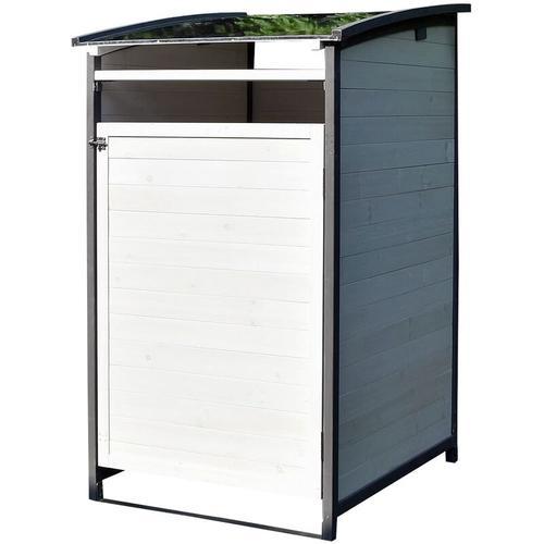 Mülltonnenverkleidung Einzelbox 120 Liter Mülltonnenbox Holz Mülltonnenhaus ??? - Melko