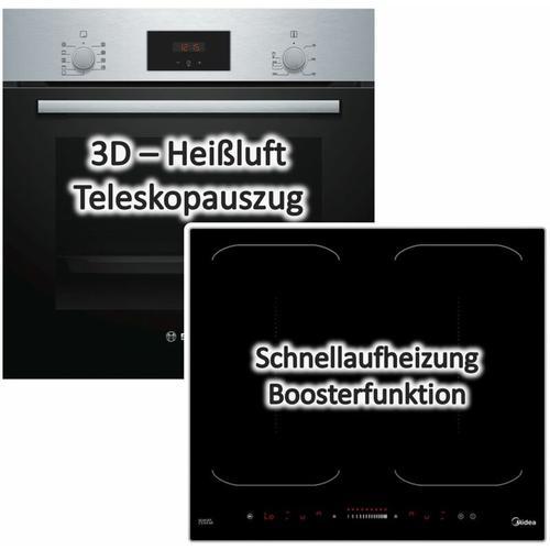 Bosch Einbau-Backofen HBF114SO mit Induktionskochfeld KI60KB - autark, 60cm