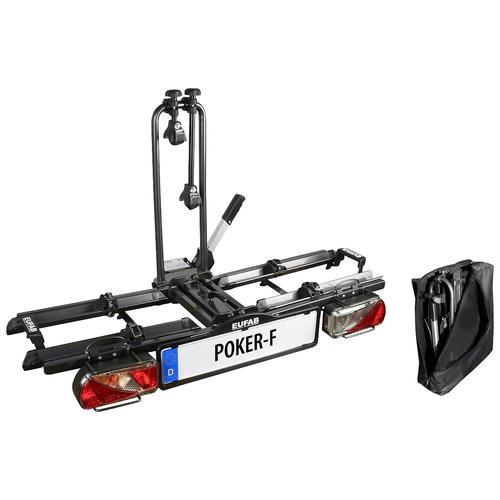 EUFAB Kupplungsfahrradträger POKER-F schwarz Fahrradträger Autozubehör Reifen