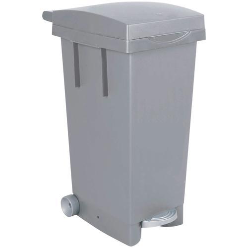 Mülleimer, BxTxH 370 x 510 790 mm, Inhalt 80 Liter, grau Mülleimer Küche Ordnung