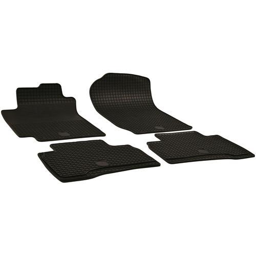 Walser Passform-Fußmatten, Suzuki, Vitara, Geländewagen, (4 St., 2 Vordermatten, Rückmatten), für Suzuki Vitara BJ 2005 - 2015 schwarz Automatten Autozubehör Reifen Passform-Fußmatten