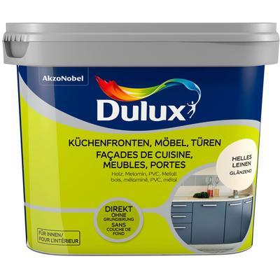 Dulux Holzlack Fresh Up, für Küchen, Möbel und Türen, hell leinen, 0,75 beige Lacke Farben Bauen Renovieren