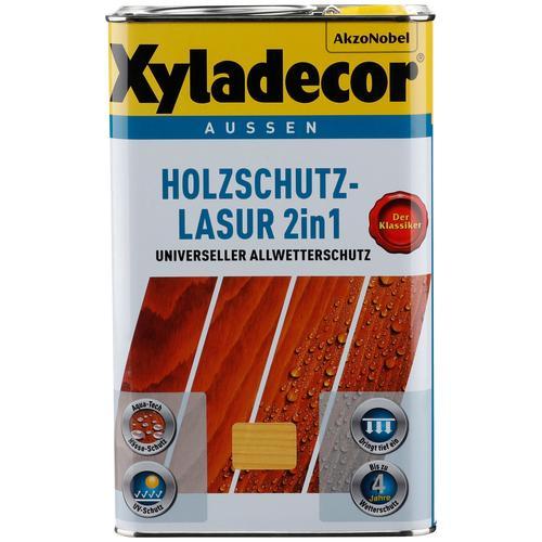 Xyladecor Holzschutzlasur 2in1, 2,5 Liter, grün Holzfarben Lasuren Farben Lacke Bauen Renovieren