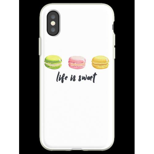 Macarons Liebhaber ∙ Macarons Hemd ∙ Macarons T-Shirt ∙ Ich liebe Macar Flexible Hülle für iPhone XS