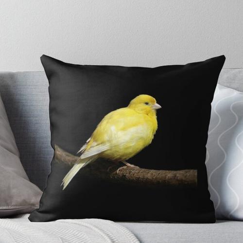 Gelber Kanarienvogel Kissen