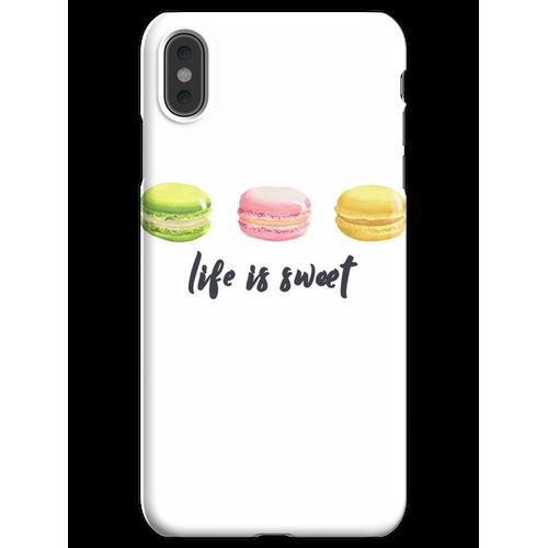 Macarons Liebhaber ∙ Macarons Hemd ∙ Macarons T-Shirt ∙ Ich liebe Macarons iPhone XS Max Handyhülle