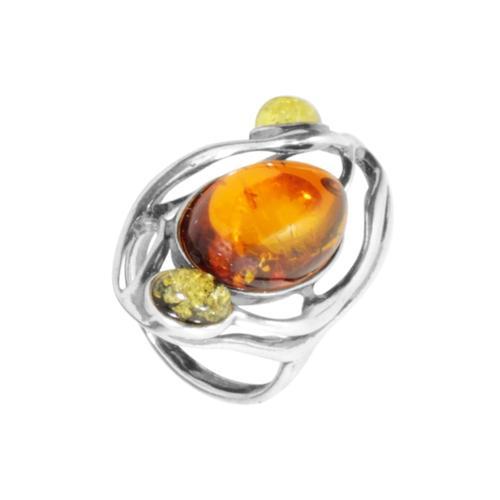 Ring - Asta - Silber 925/000 - Bernstein OSTSEE-SCHMUCK silber