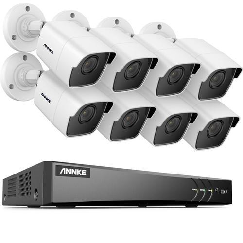 8-Kanal Ultra HD 4K H.265 CCTV-Kamerasystem + DVR- und 8 × 5MP HD-Wetterschutzkameras mit EXIR LED