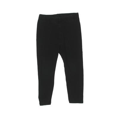 Baby Gap Leggings: Black Solid Bottoms - Size 2