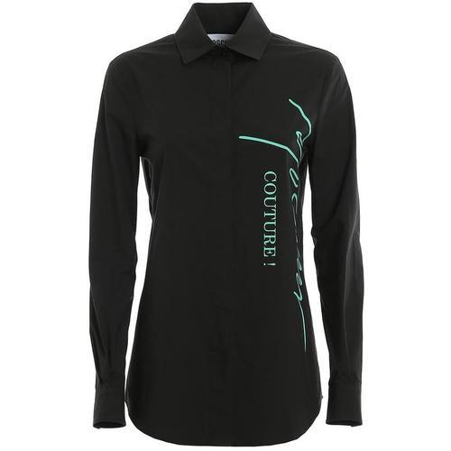 Moschino Unterzeichnung Logo Baumwolle Shirt
