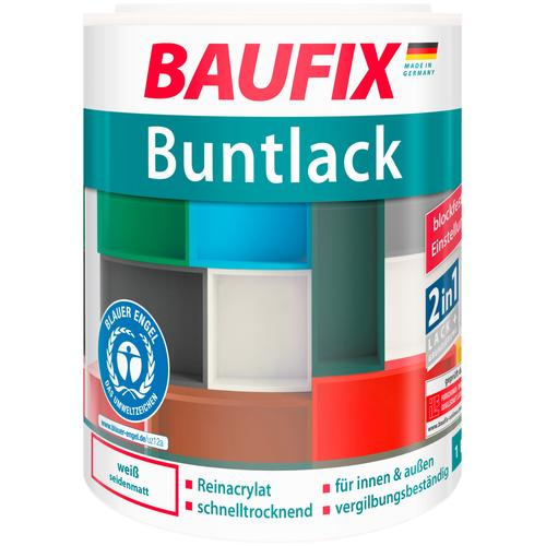 Baufix Acryl-Buntlack, 1 Liter, weiß Lacke Farben Bauen Renovieren Acryl-Buntlack