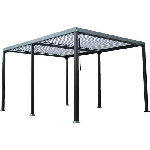 Lamellenpavillon Cannes | Pavillon Gartenpavillon Terrasse Partyzelt Überdachung - Home Deluxe