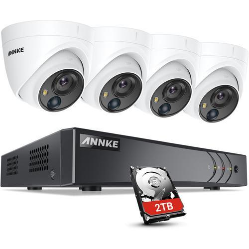ANNKE 5MP HD 5-in-1 8CH DVR-Überwachungskamerasystem mit 4 * 5MP PIR-Außenkameras - 2 TB Festplatte