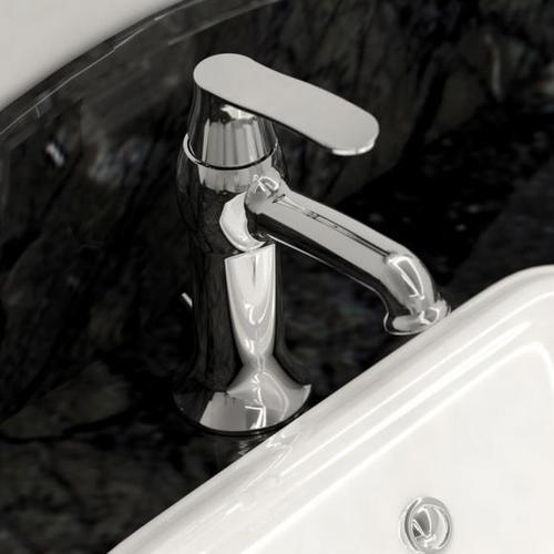 Treos Serie 199 Einhebel-Waschtischarmatur mit Ablaufgarnitur, Ausladung: 105 mm 199.01.1000