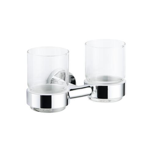 Avenarius Serie 200 Doppelhalter mit 2 Gläsern B: 185 H: 95 T: 124 mm 2001101010