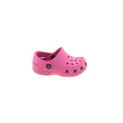 Crocs Clogs: Pink Solid Shoes - Size 2