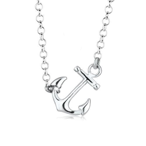 Halskette Anker Maritim Hanseatisch 925 Sterling Silber Elli Silber