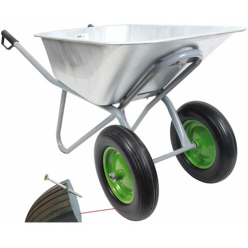 TrutzHolm® Schubkarre Schiebkarre Gartenkarre Zweiradkarre 2-Rad PU Rad 150l 150kg