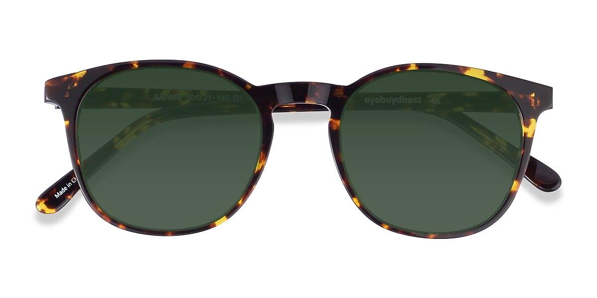 Unisex Round Dark Tortoise Acetate Prescription sunglasses - EyeBuydirect's Safari