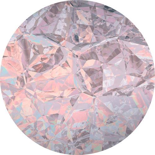 Komar Vliestapete Glossy Crystals, abstrakt-Steinoptik bunt Vliestapeten Tapeten Bauen Renovieren