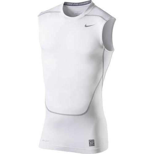 NIKE Herren Unterhemd CORE COMPRESSION SL TOP 2.0, Größe M in White-Cool Grey
